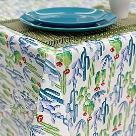 Tablecloth Fabric PVC TIJUANA white