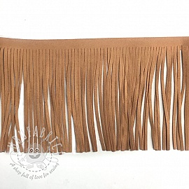 Tassels 12 cm suede apricot