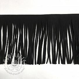 Tassels 12 cm suede black