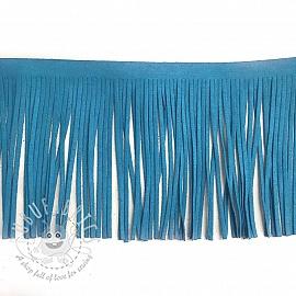 Tassels 12 cm suede blue