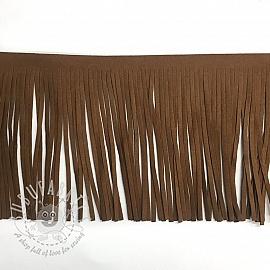 Tassels 12 cm suede brown
