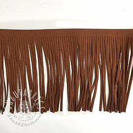 Tassels 12 cm suede cacao