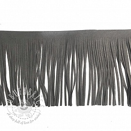 Tassels 12 cm suede dark grey