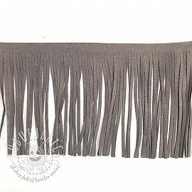 Tassels 12 cm suede light grey