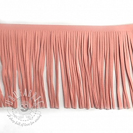 Tassels 12 cm suede light pink