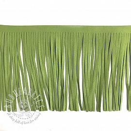 Tassels 12 cm suede lime