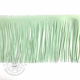 Tassels 12 cm suede mint