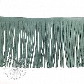 Tassels 12 cm suede old mint
