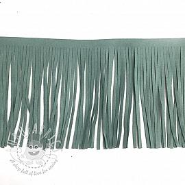 Tassels 12 cm suede old mint