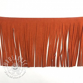Tassels 12 cm suede orange