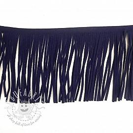 Tassels 12 cm suede purple