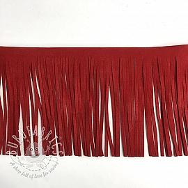 Tassels 12 cm suede red