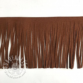 Tassels 12 cm suede roest
