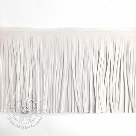 Tassels 12 cm suede white