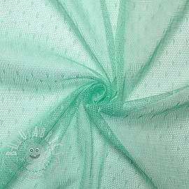 Tulle netting DOT light mint