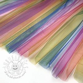 Tulle netting Rainbow DARK MULTI