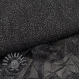 Tulle netting ROYAL SPARKLE black silver