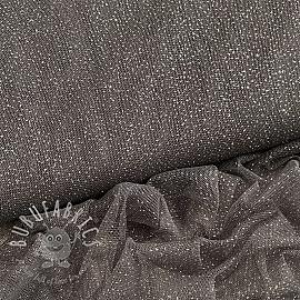 Tulle netting ROYAL SPARKLE dark grey silver