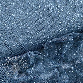 Tulle netting ROYAL SPARKLE jeans silver