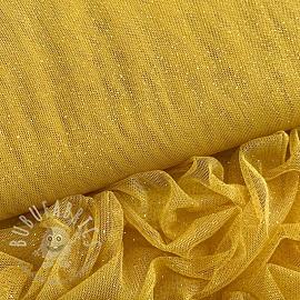 Tulle netting ROYAL SPARKLE ochre gold