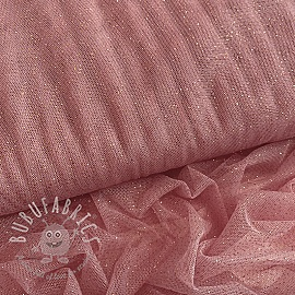 Tulle netting ROYAL SPARKLE old rose gold
