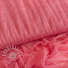 Tulle netting ROYAL SPARKLE pink gold