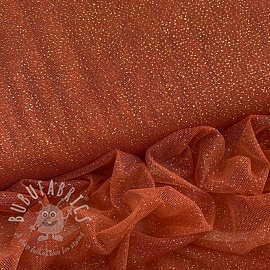 Tulle netting ROYAL SPARKLE rust gold