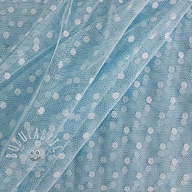 Tulle netting SPOT light blue