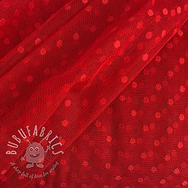 Tulle netting SPOT red