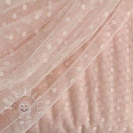 Tulle netting SPOT rose