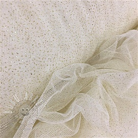 Tulle netting Royal sparkle ecru