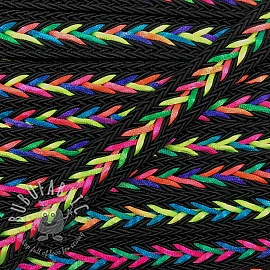 Twisted cord NEON black