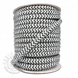 Twisted cord ZIG ZAG grey