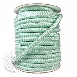 Twisted cord ZIG ZAG light mint