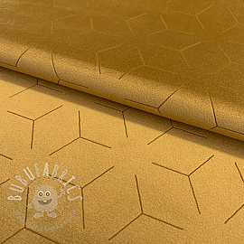 Velour DELUXE laser print golden yellow