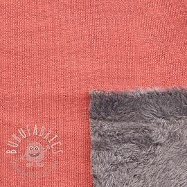 Alpenfleece UNI peach/grey