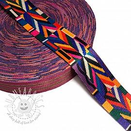 Webbing 4 cm DECO aztec