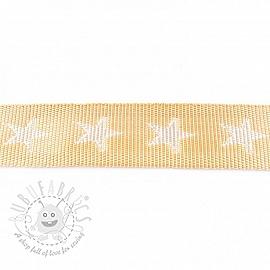 Webbing 4 cm Star beige 2nd class