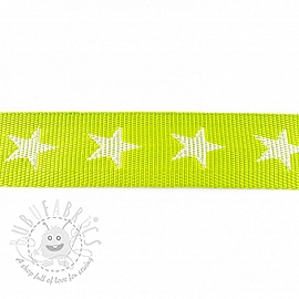 Webbing 4 cm Star lime