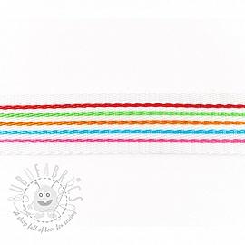 Webbing 4 cm Stripe multi