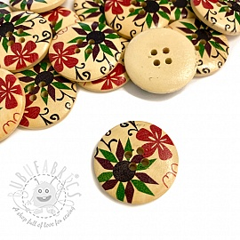 Wooden button Round Square