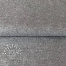 Cotton poplin Yarn dyed grey