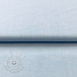Cotton poplin Yarn dyed light blue