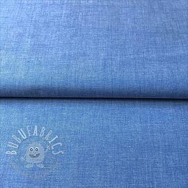 Cotton poplin Yarn dyed sky