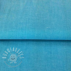 Cotton poplin Yarn dyed turquoise
