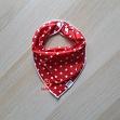 Cotton fabric Petit stars red