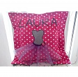 Cotton fabric Dots pink