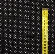 Cotton fabric Petit dots white/black