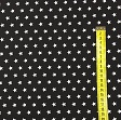 Cotton fabric Petit stars black