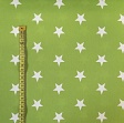 Cotton fabric Stars turquoise